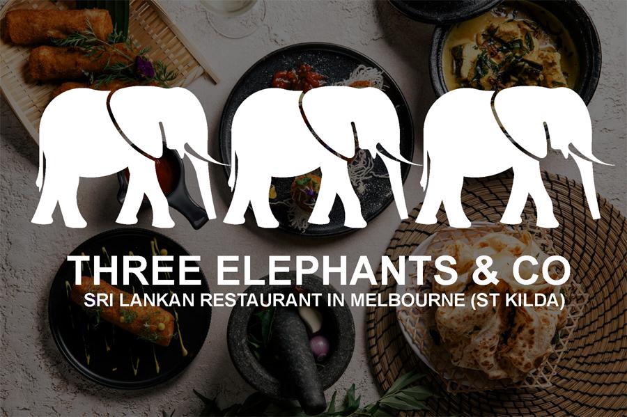 Three Elephants Sri Lankan Food Restaurant Melbourne St Kilda Australia